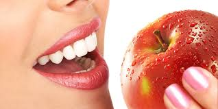 healthy skin with apple